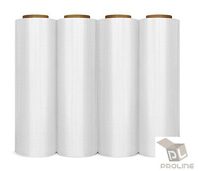 4 Rolls 18x1000ft Industrial Strength Pallet Wrap Stretch Film Shrink Hand Wrap