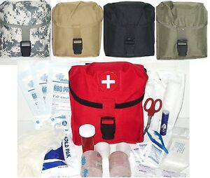 Tactical-Medic-Pack-First-Aid-Kit-MOLLE-Pouch-IFAK-EMT-Fully-Stocked-w-Supplies