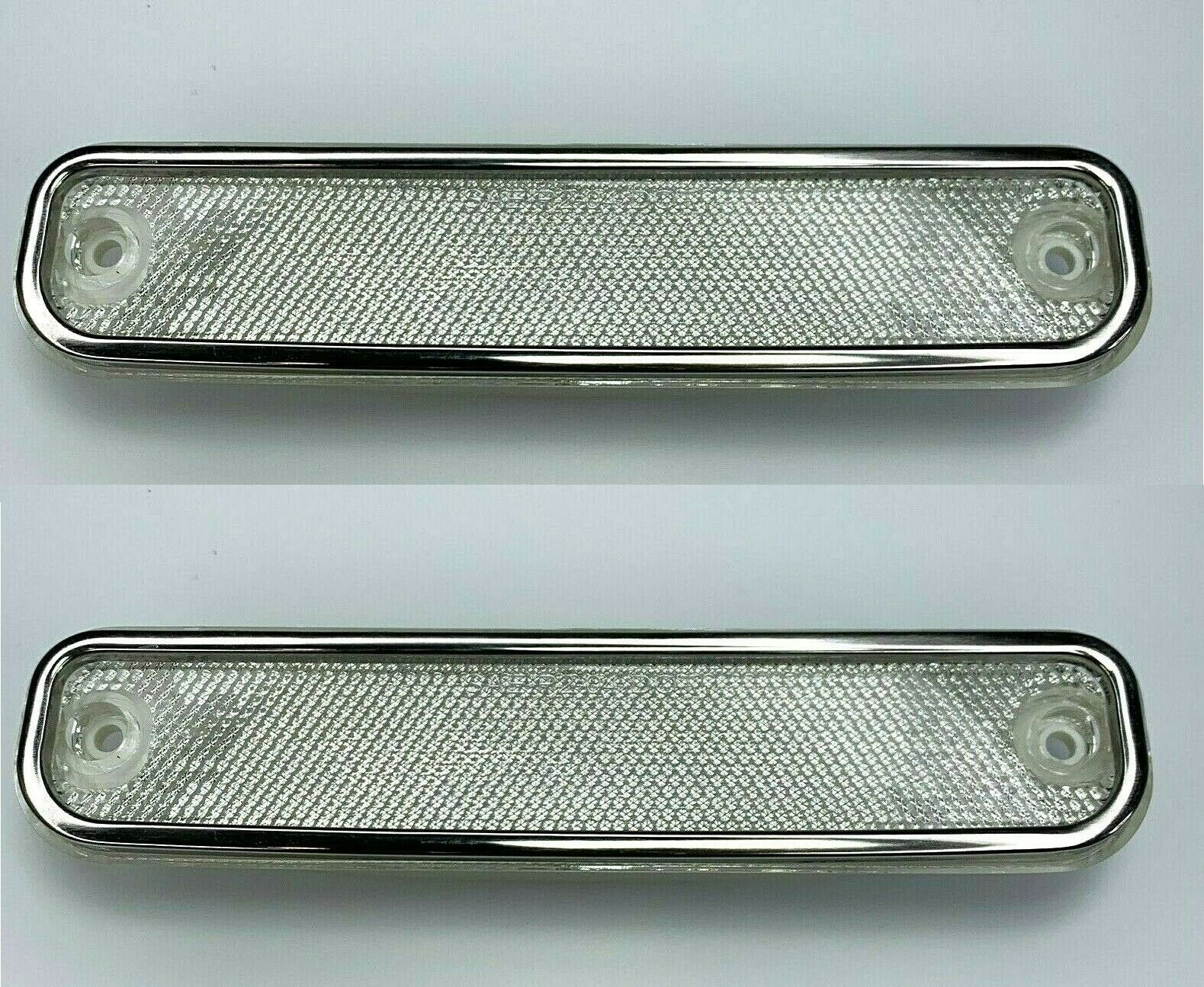Pair Clear Side Marker Lamp Lights for 1973-1980 Chevrolet GMC Truck  (73-80)