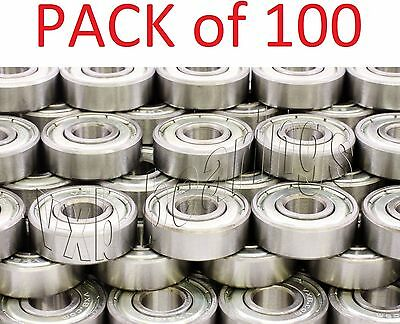 Lot of 100 Roller/Rolling Blade Skates Ball Bearing 608ZZ Rollerblade 608Z Sale