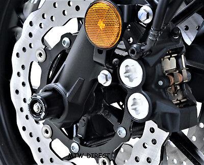 R&G RACING PAIR BLACK  FORK PROTECTORS for Yamaha XSR700 2016, 2017, 2018