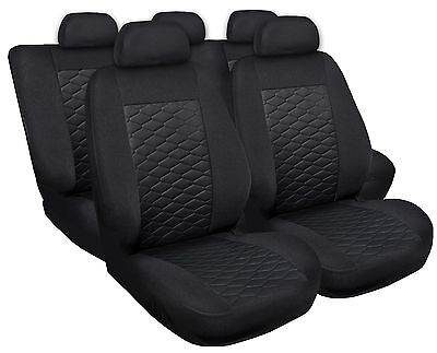 Sitzbezüge Sitzbezug Schonbezüge für Mercedes A-Klasse Schwarz Modern MP-1 Set