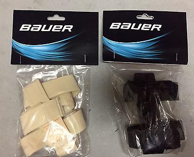 Bauer Profile Goalie Mask Backplate Harness Strap! NHL Logo, Black White Cream Black And White Goalie Mask