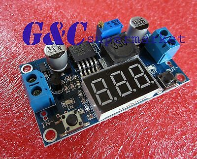 Dc-dc Buck Step Down Converter Module Lm2596 Voltage Regulatorled Voltmeter M3
