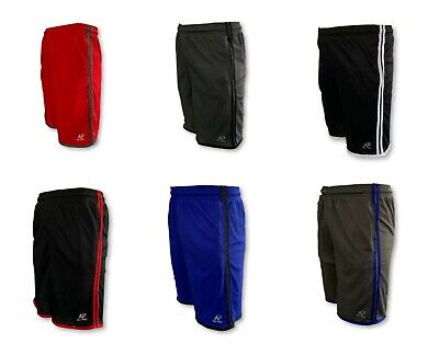 Mens Mesh Jersey 2 Pocket  Basketball Shorts Gym Fitness Workout Athletic Casual Mens Jersey Shorts