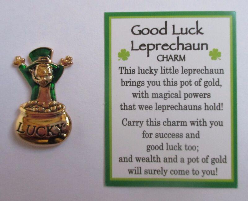 zzF Good Luck Leprechaun Ganz Lucky pot of Gold Pocket Token Charm success