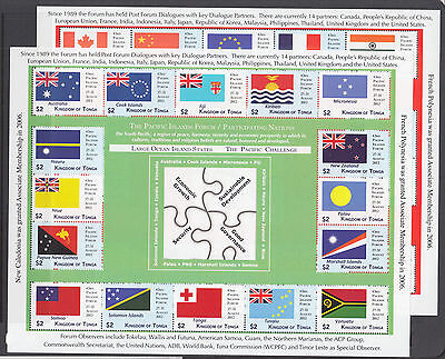 Tonga Sc 1190-1191 MNH. 2012 Pacific Islands Forum, cplt set of mini sheets, VF.