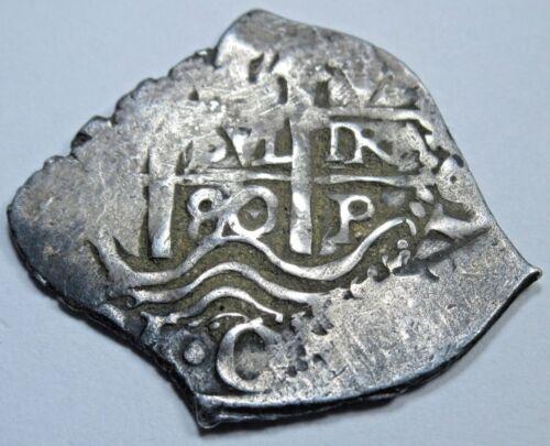 1680 Spanish Potosi Silver Cob 1 Real Piece of 8 Reales Colonial Treasure Coin