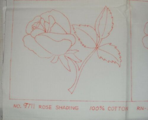 """36 Vintage Rose Tri-Chem 100% Cotton Blocks Ready to Paint or Embroidery 7""""x8"""""""