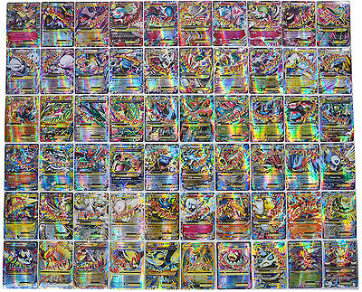 Hot ! New Pokemon TCG : 100FLASH CARD LOT RARE  MEGA+ EX CARDS NO REPEAT