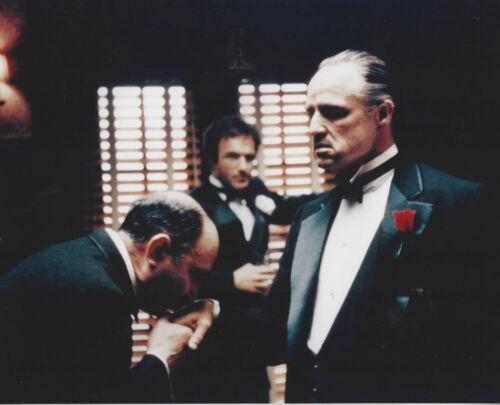 Hit Movie The Godfather great Brando and Caan photo Kissing the ring