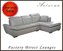 Arizona new Genuine Leather Sofa with Chaise Lounge Suite Cromer Manly Area Preview