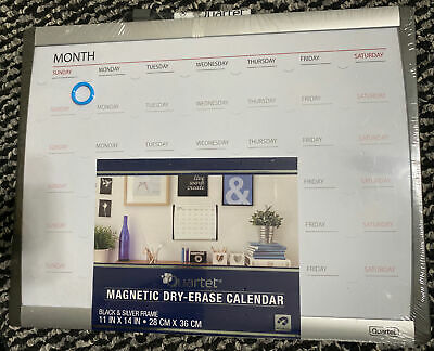 Quartet Magnetic Dry-erase Board Calendar 1114 In Month Calendar