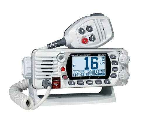 Standard Horizon Eclipse GX1400 Fixed Mount NOAA VHF Boat Radio Class D White