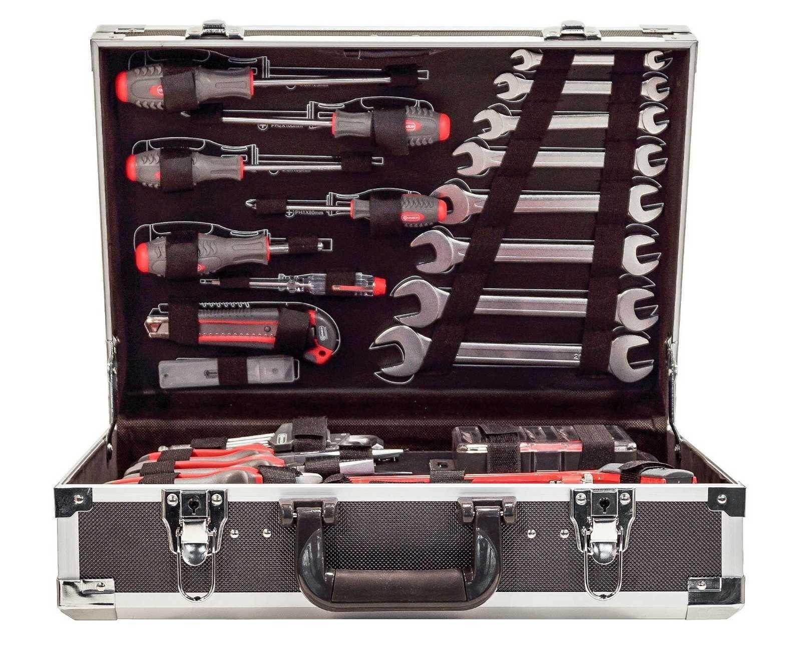 Werkzeugkoffer mit Werkzeug, 116 tlg., Werkzeugkoffer COX566116