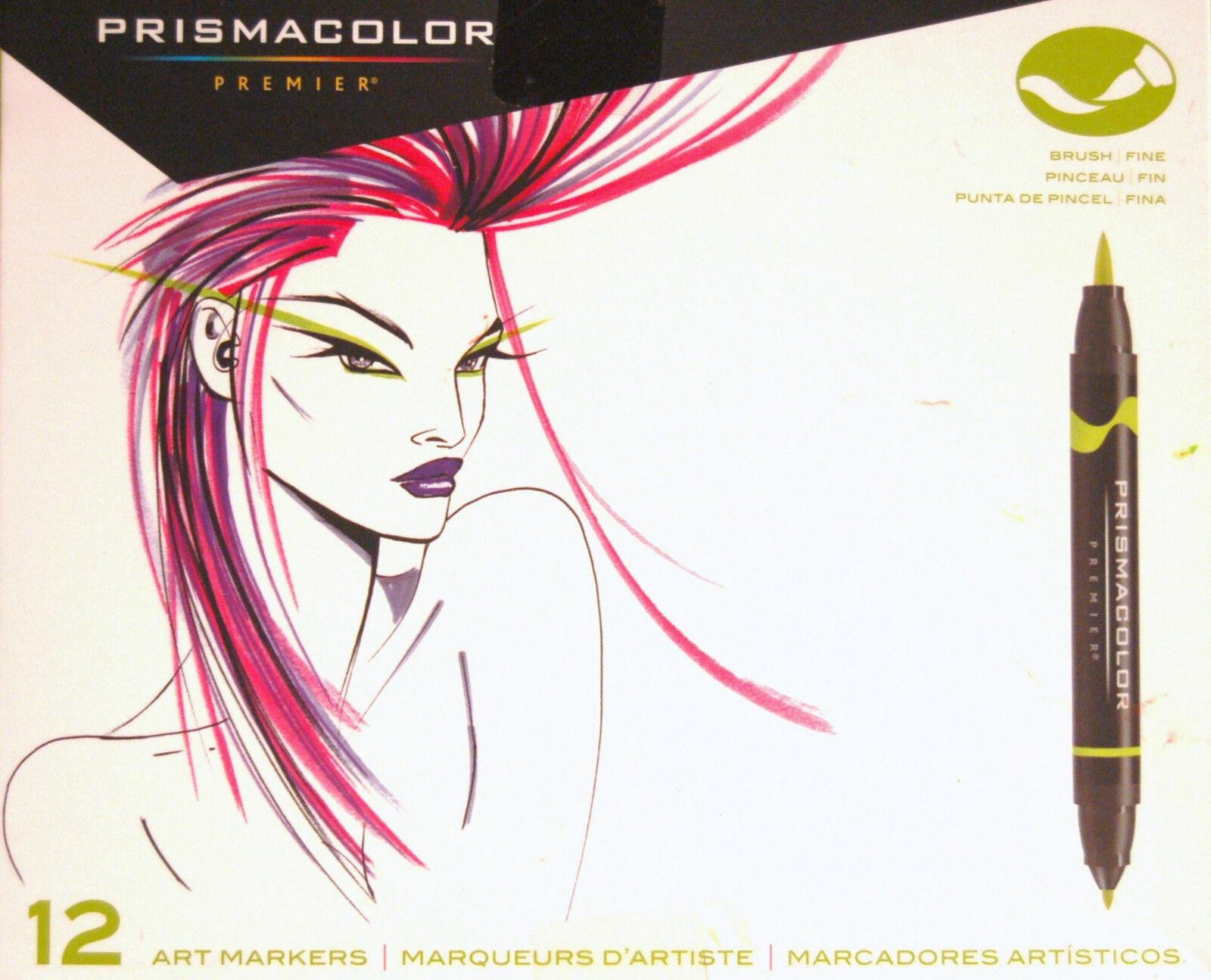 Prismacolor 1773297 Premier Double-Ended Art Markers, Fine a