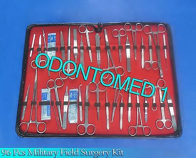 96 Pc Us Military Field Minor Surgery Surgical Veterinary Dental Instrument Kit