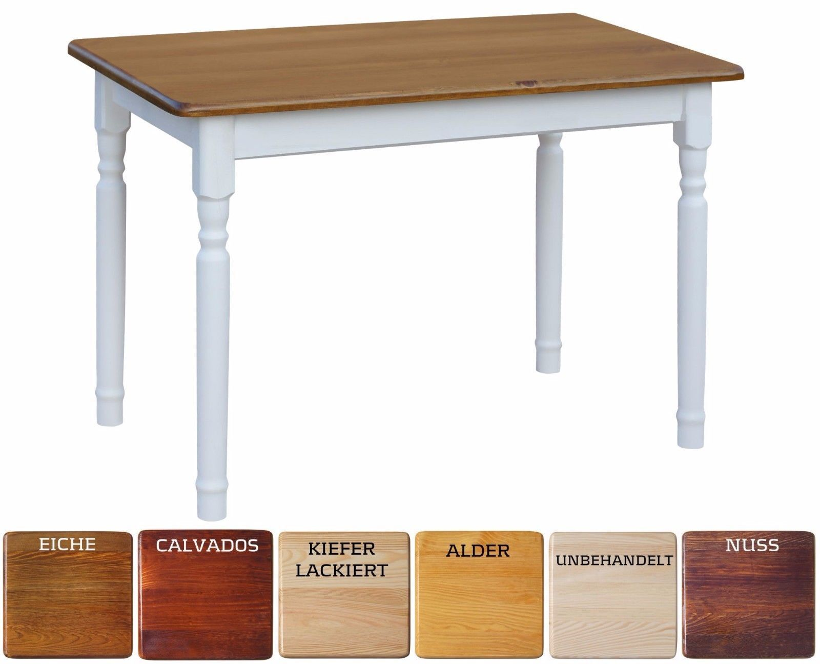 Großer Tisch Esstisch Küchentisch Restaurant Landhausstill 140, 160, 180, 200cm 1