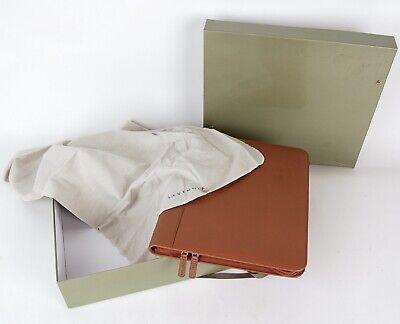 Levenger Toffee Tan Leather Circa Zip Folio Letter Portfolio Binder Box New