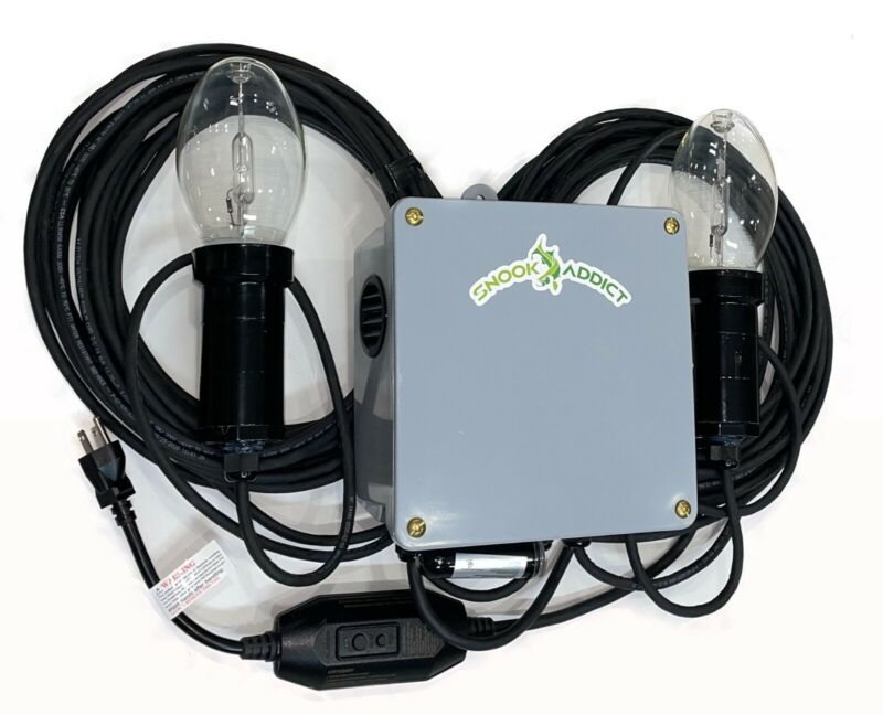 Double HIGH POWERED green underwater fishing light ! Snook Addict, inc.