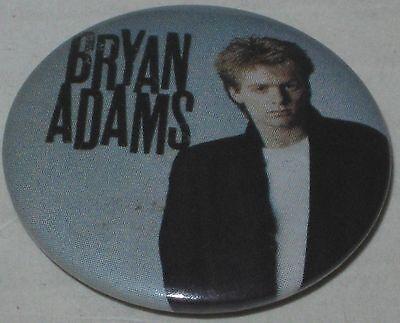 "1980's Bryan Adams Tour Pin 1.25"""