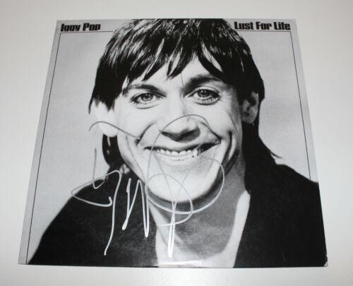 IGGY POP SIGNED 'LUST FOR LIFE' RECORD ALBUM VINYL LP w/COA PROOF THE STOOGES