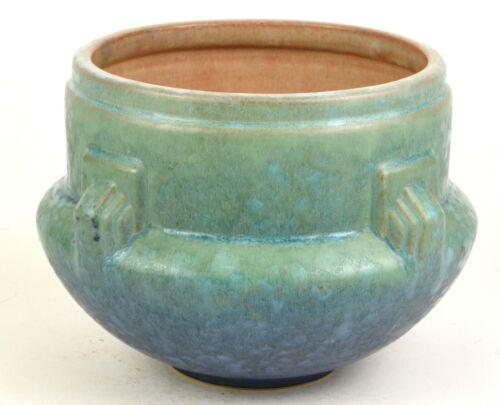 "ROSEVILLE POTTERY BLUE-GREEN ARTCRAFT JARDINIERE 629-5"""