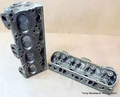 GM 543787 Pontiac V8 Cyl Heads Dated F 19G22 63 All Stock wHdw Pair