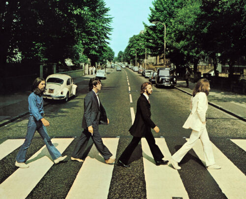 THE BEATLES 8X10 CELEBRITY PHOTO PICTURE ABBY ROAD