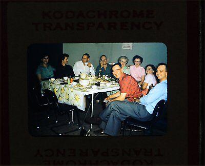 Original Slide Family at Diner Table  c1950 for sale  Lawrence Township