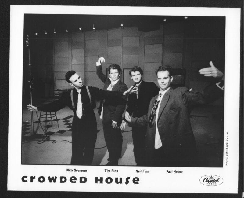 VINTAGE ORIGINAL Ltd Edition Promo Photo 8x10 Crowded House Tim Neil Finn 1991