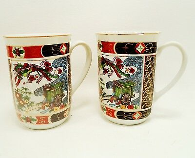 Imari Heritage Mint Set (s) of 2 Cups / Mugs