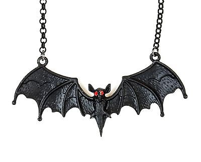 Gothic Vampire Bat Pendant Blood Red Stone Eye Premium Quality Punk Rock Metal