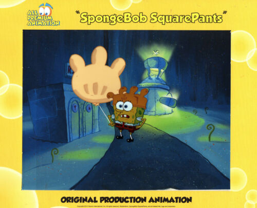 "ICONIC ! ""THE VERY BEST""! Spongebob Prod CEL #8193"" ROCK BOTTOM"""