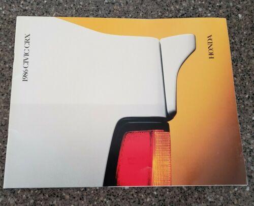1986 Honda Civic CRX Sales Brochure - Excellent Original Condition
