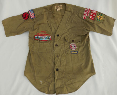 Vtg. Boy Scouts Of America BSA Youth Shirt W/Eagle Scout Patch Sac., Calif.