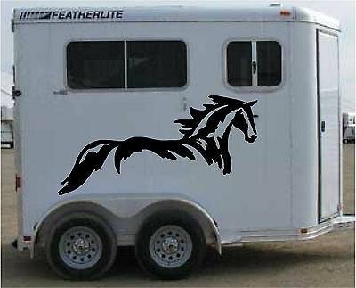 Extra LARGE GRAPHIC Horse Trailer RV Decal Stickers  38x75 set of 2