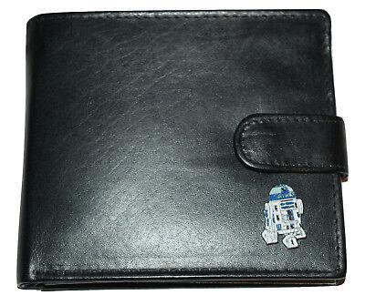 STAR WARS R2D2 Robot Wallet Enamel emblem Men's accessory Gift Boxes available