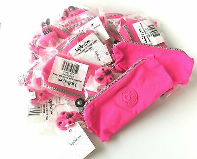 Kipling Freedom Pencil Pouch Cosmetic Case Surfer Pink Nwt