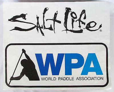 "Huge SALT LIFE WPA World Paddle Assn ANTI-SLIP 22x18"" STICKER SUP stand up board"