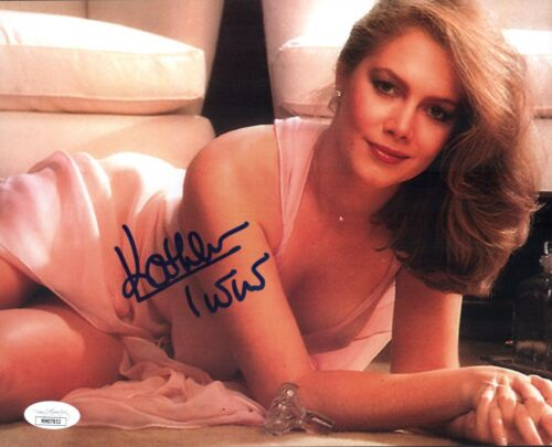 KATHLEEN TURNER Signed ROMANCING THE STONE 8x10 Photo Autograph JSA COA