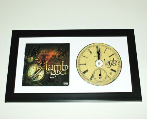 LAMB OF GOD BAND SIGNED FRAMED SELF TITLED CD COVER ALBUM COA x5 SACRAMENT 2020