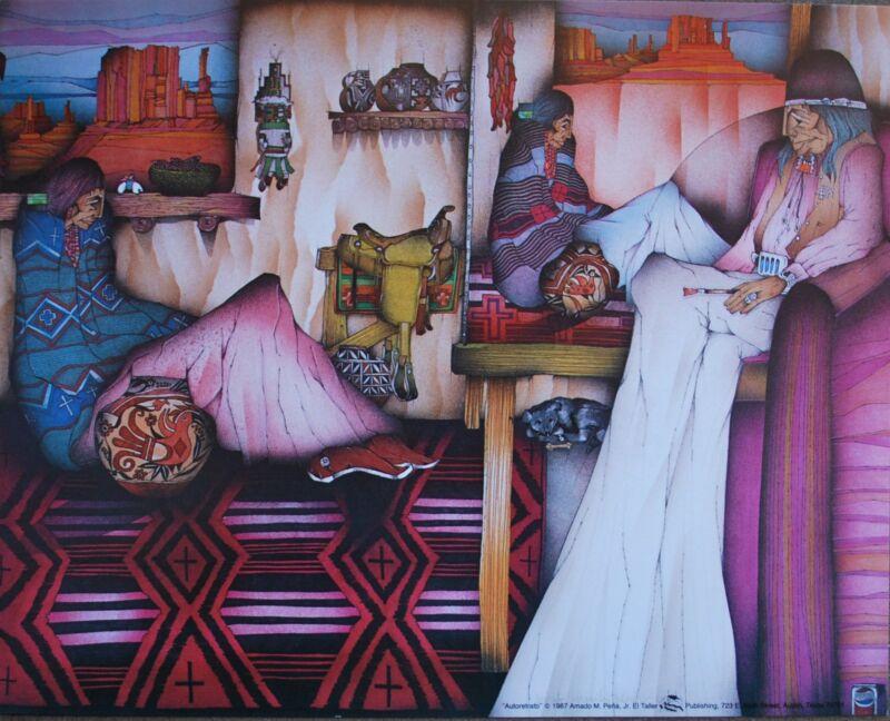 "Amado Pena Mini Prints ""ATORETRATO"" 1987 (7750) SIGNED 8x10"