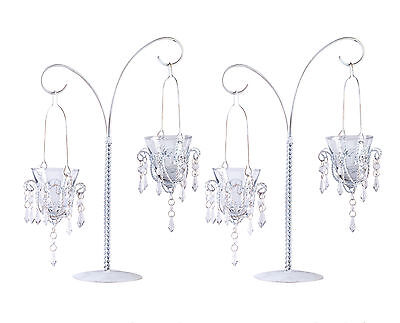 CANDLE HOLDERS: Set of 2 WEDDING Hanging Chandelier Votive 17