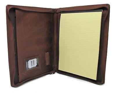 Brown Leather Presentation Folder Portfolio With Personalisation Option It08-0