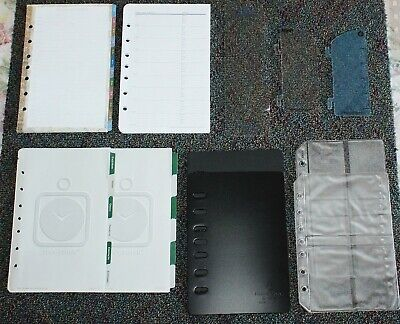 Classic Desk Planner Accessory 7-hole Tab Address Protectors Sleeves Lot 31
