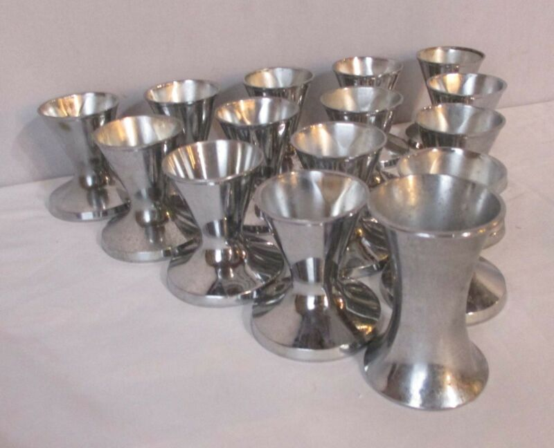 Vintage Chrome Dixie Cup Sundae Cub Holder - Set of Fourteen (14)  Plus One
