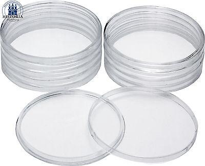 10 x Glasklare Münzkapsel Dose für ATB Quarter 5 Oz Silber Münzen 76,5 mm