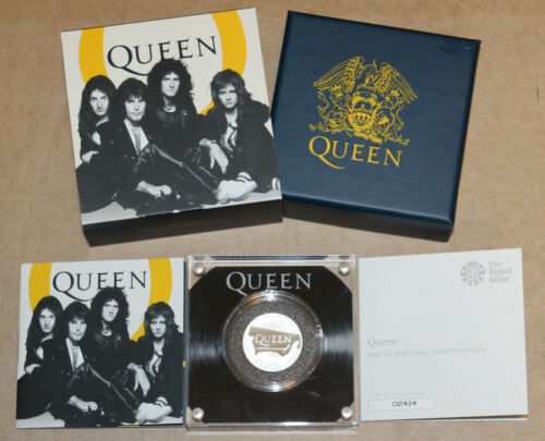 Queen - 2020 UK Half-Ounce Silver Proof Coin - Great Britain Music Legends Low #