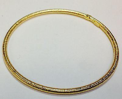 Gold Stackable Bangle - 14Kt Yellow Gold Stackable Slip-on Hammered Textured Bangle/Bracelet 8